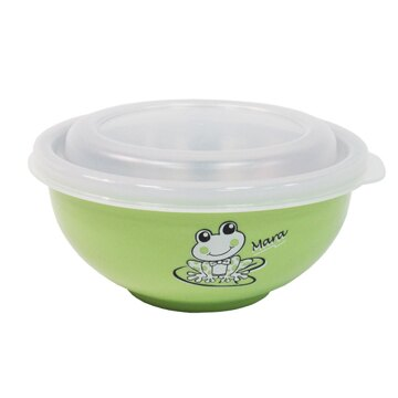 ZEBRA 斑馬牌 不鏽鋼304 雙層隔熱兒童碗-黃/藍/粉/綠  842023