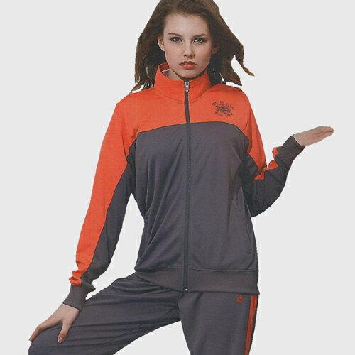 義大利名牌SINA COVA女版吸濕排汗單層針織運動服套裝-全套(橘灰)#SW8200AB - 限時優惠好康折扣