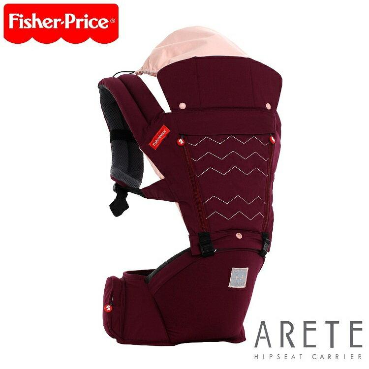 【Fisher-Price費雪】ARETE艾瑞特腰凳式揹巾(背巾)-酒紅色 0