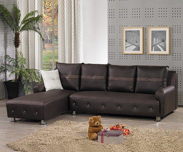 【尚品家具】760-03 柚銓 咖啡L型皮沙發組(附4大1小抱枕)