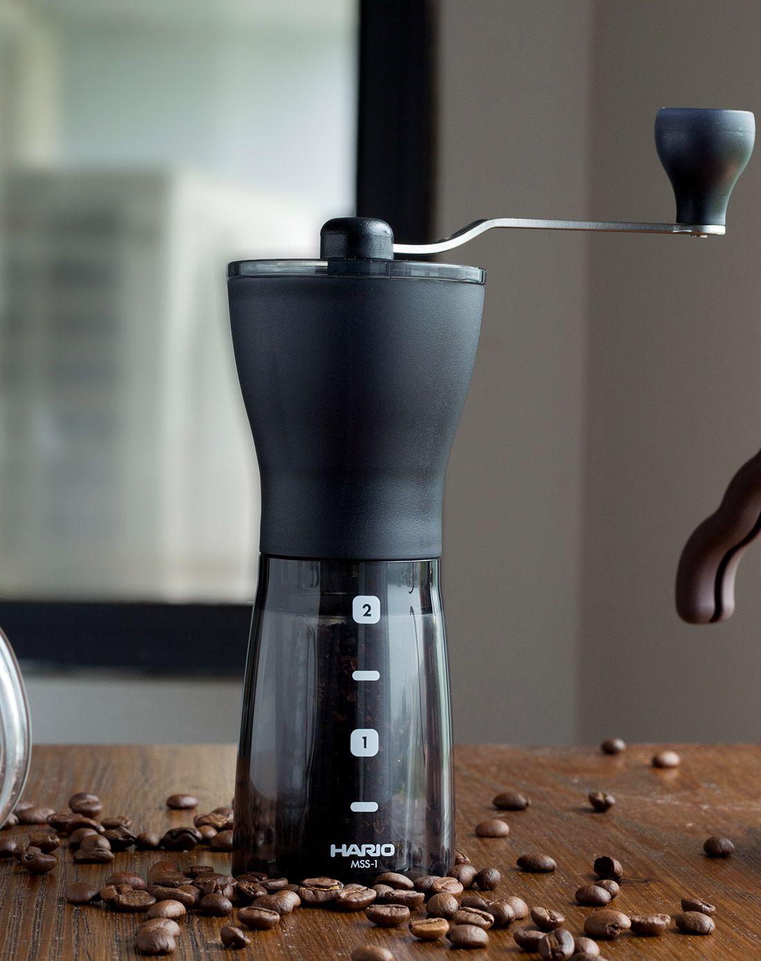 【沐湛咖啡】新款 日本原裝 HARIO 咖啡磨豆機 Hario MSS-1DTB 輕巧手搖磨豆機 黑色