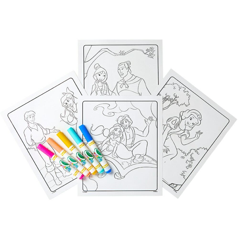 Crayola 神彩著色套裝 - 迪士尼公主(紙盒) 1