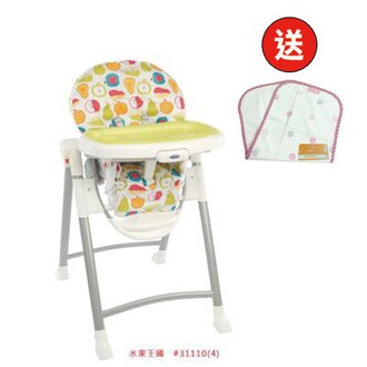 【悅兒樂婦幼用品?】GRACO Contempo 可調式高低餐椅 - 水果王國【買再贈送 COTEX 防水透氣拍嗝巾X1】