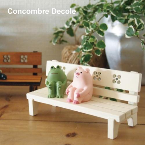 Decole日本擺設公仔 - Concombre 公園白長椅 ( ZCB-14792 )