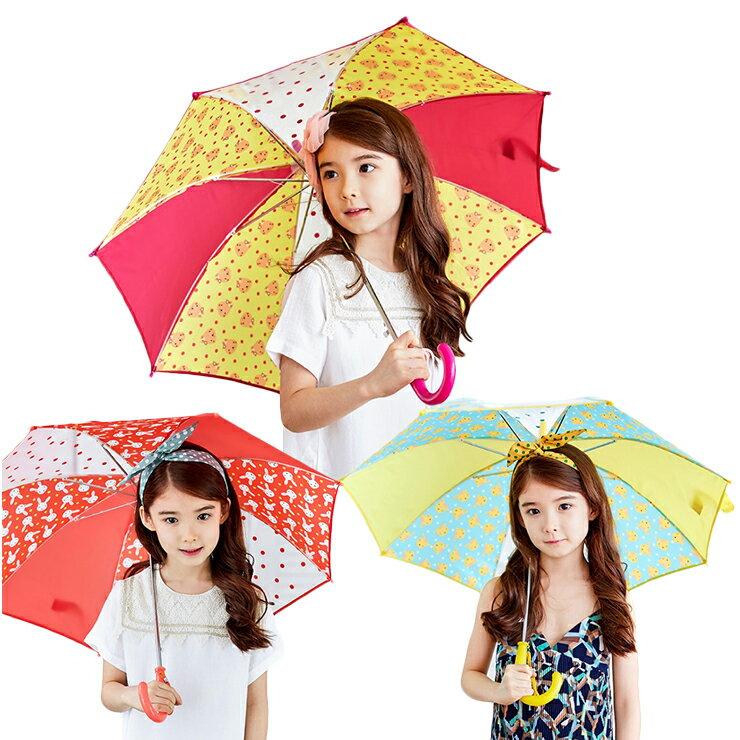 Lemonkid◆正韓可愛滿版卡通動物圖案點點果色造型兒童雨傘