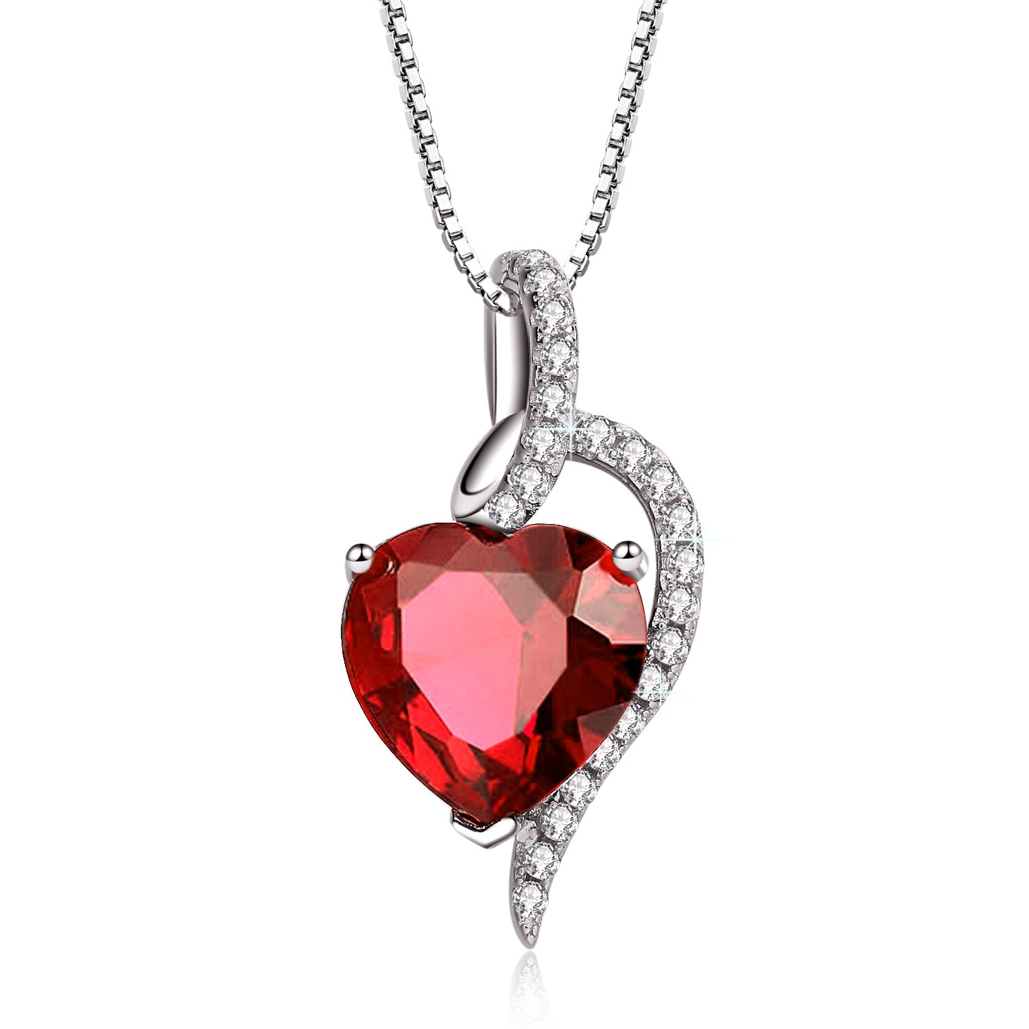 """4.10 Ct Sterling Silver Lab Gemstone Pendant 18/"""" Chain Heart Necklace for Women"""