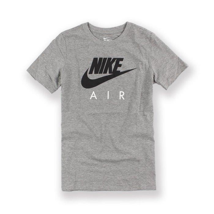 美國百分百【全新真品】Nike 壓紋 logo T恤 耐吉 短袖 T-shirt 運動休閒 灰色 上衣 情侶裝 青年版 XXS S號 I008