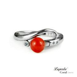 大東山珠寶 富貴滿園 全紅珊瑚純銀戒指