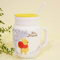 小熊維尼周邊商品推薦【more 禮品小舖】歡樂維尼三件式杯子 馬克杯  牛奶杯 陶瓷杯
