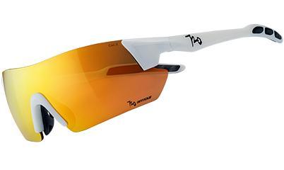 720armour Kamikaze 單車三鐵廣角運動太陽眼鏡 B369-2 消光白框冠軍金鍍膜防爆PC片