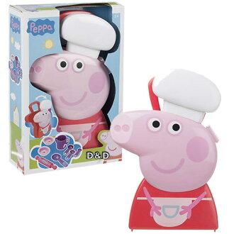 《 Peppa Pig 》粉紅豬小妹廚師遊戲組07691(手提可愛造型,還可收納)