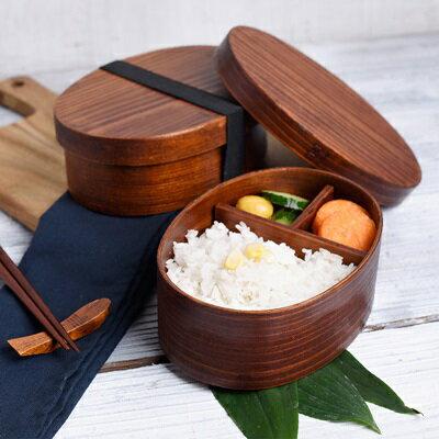 ★木製便當盒飯盒-日式單層環保分格餐盒73pp409【獨家進口】【米蘭精品】 2