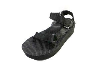 [陽光樂活] TEVA (女) FLATFORM UNIVERSAL 全黑 厚底 織帶涼鞋 -TV1008844BLK