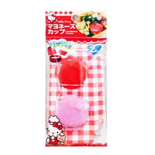 【真愛日本】16091400037 攜帶式醬料罐沙拉盒-2入 收納罐 調味罐 可愛造型 三麗鷗 KITTY 凱蒂貓