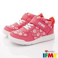 IFME健康機能鞋 護踝穩定鞋款 IF22-97SC1珊瑚紅(中小童段)-星空嵐-媽咪親子推薦