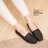 格子舖*【ANW512】MIT台灣製 素面經典帆布透氣皮革 平底包鞋 懶人樂福鞋 豆豆鞋 4色 2