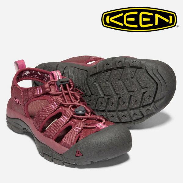 【Keen美國】NEWPORTECO越野護趾涼鞋運動涼鞋休閒涼鞋女款酒紅色/1018819