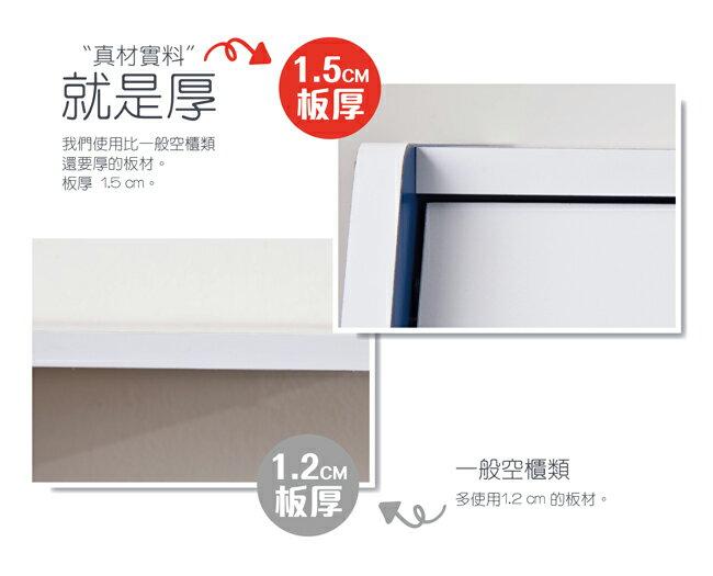 門櫃 / 書櫃 / 整理櫃 TZUMii 艾莉絲掀門櫃-藍色 6