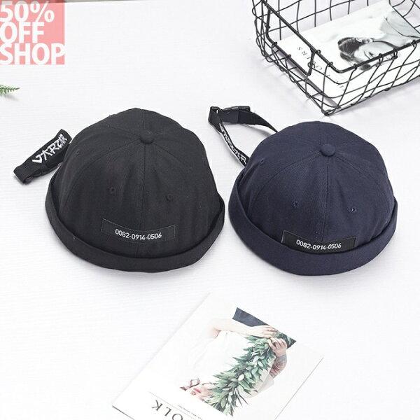 50%OFFSHOP韓版個性長帶子字母貝雷帽戶外遮陽帽搞怪瓜皮地主帽子(3色)【E034563H】