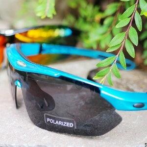 美麗大街【105011304】單車運動眼鏡 可調式 太陽眼鏡 9件組