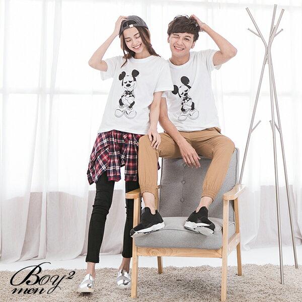 ☆BOY-2☆ 【IT8002】情侶韓版潮流刺青米老鼠短袖T恤 2