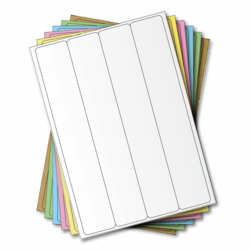 西瓜籽 龍德 三用電腦標籤貼紙 4格 LD-8107-W-A 白色 105張(盒)