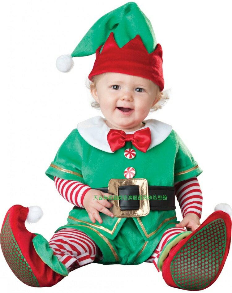 BABY003聖誕小精靈寶寶造型服聖誕節外出棉服男女加厚嬰兒連身套裝