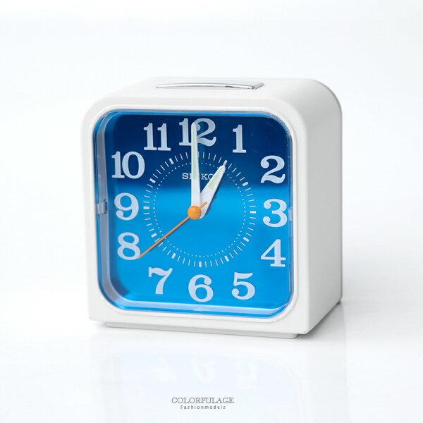 鬧鐘SEIKO海洋風方形鬧鐘柒彩年代【NV61】原廠公司貨