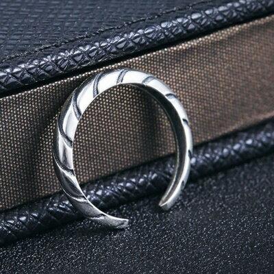 925純銀戒指銀飾~簡潔大方螺紋 母親節生日情人節 女飾品73dx111~ ~~米蘭 ~