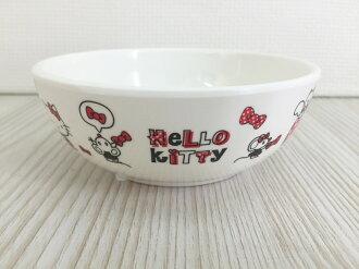【真愛日本】15120100005沙拉碗-多結紅  三麗鷗 Hello Kitty 凱蒂貓 小碗 湯碗
