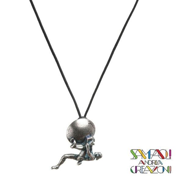 【SAC義大利】青銅項鍊吊飾-抱石者義大利傳統飾品工藝/SAC023