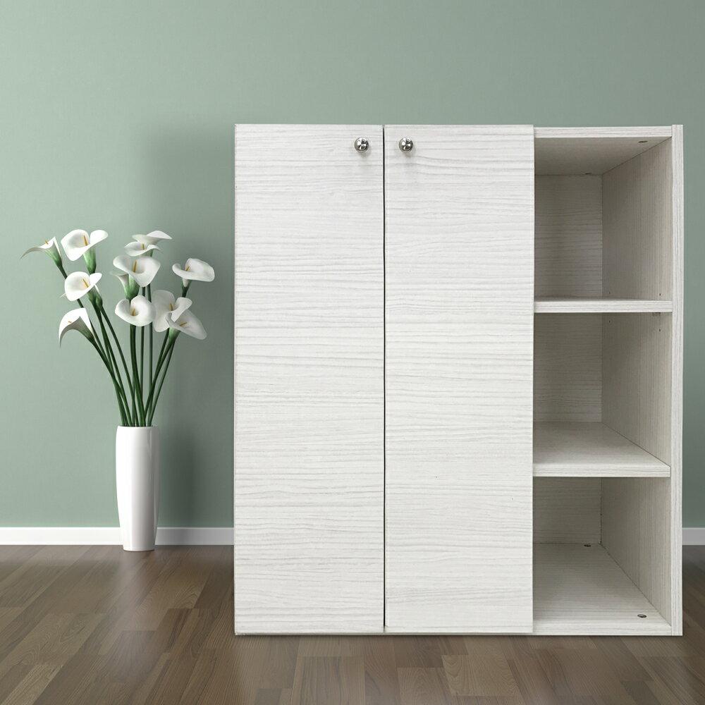 衣櫃 衣櫥 收納櫃|DIY傢俱 波爾多雪松雙門衣櫃收納櫃|MIT台灣製造|木質衣櫃|環保材質〔易宥家居〕