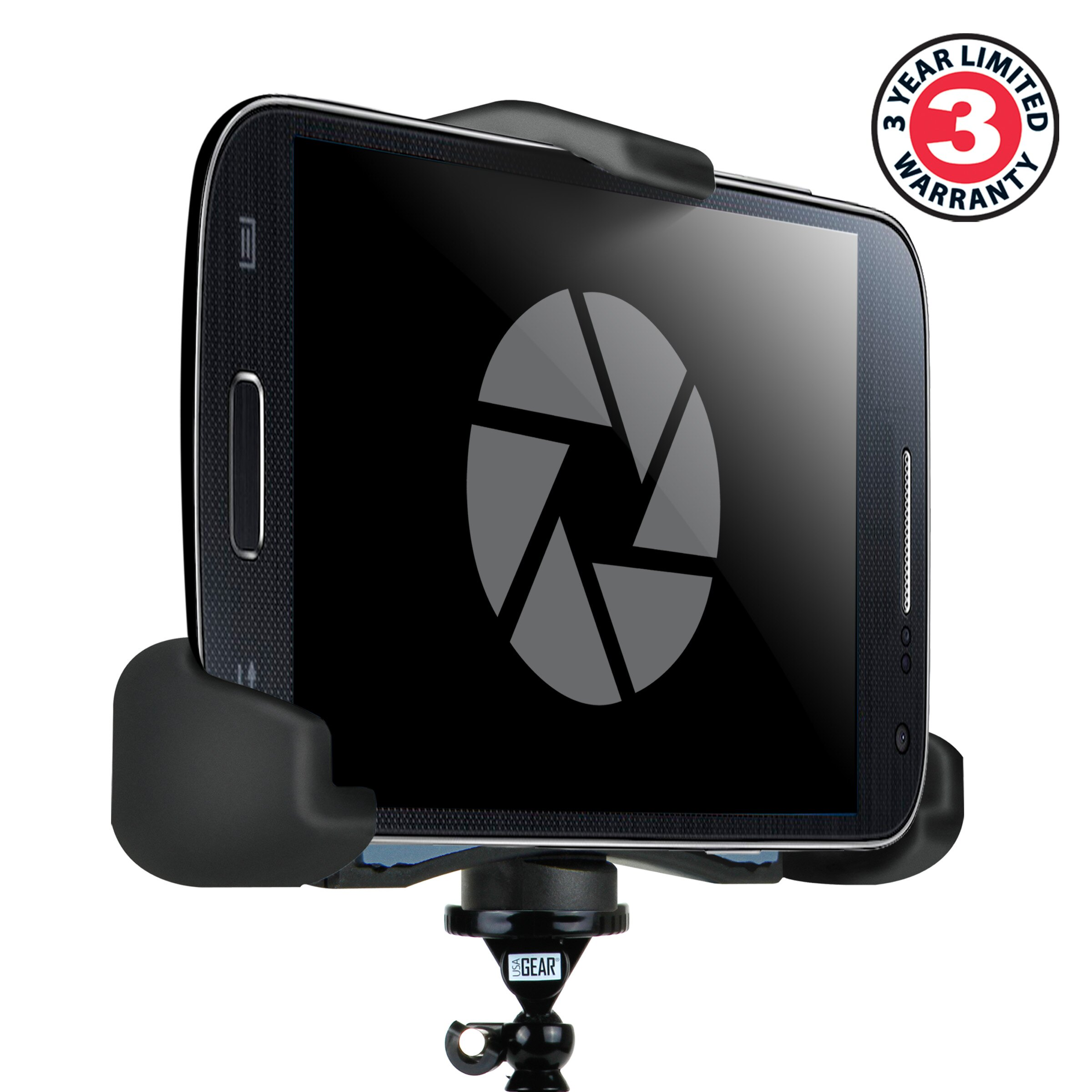 Smartphone Action Mount Adapter for Tripods with Secure J-Hook Attachment  by USA Gear - Works With Apple , HTC , Huawei , LG , Motorola , Samsung and