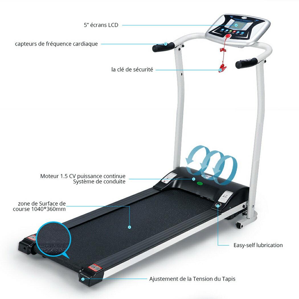 Ancheer Mini Folding Electric Running Training Fitness Treadmill 5