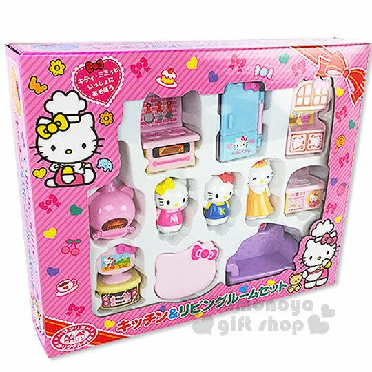 〔小禮堂嬰幼館〕Kitty 家家酒廚房玩具組《粉.公仔.媽媽.冰箱.烤箱》