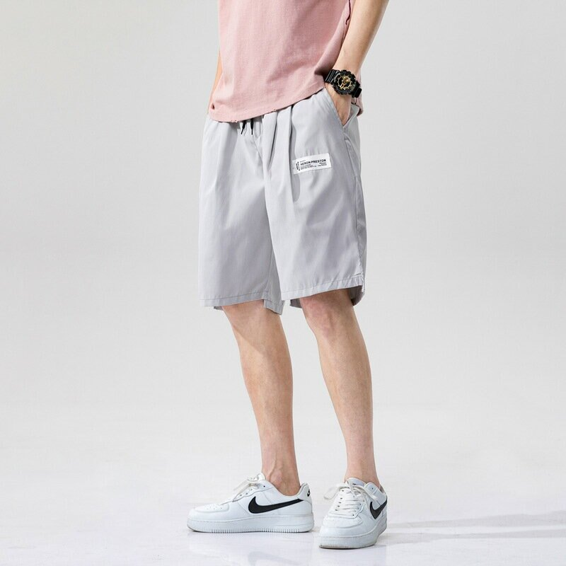 夏網紅褲子男嘻哈寬鬆運動休閒五分褲沙灘短褲跑步速乾潮流