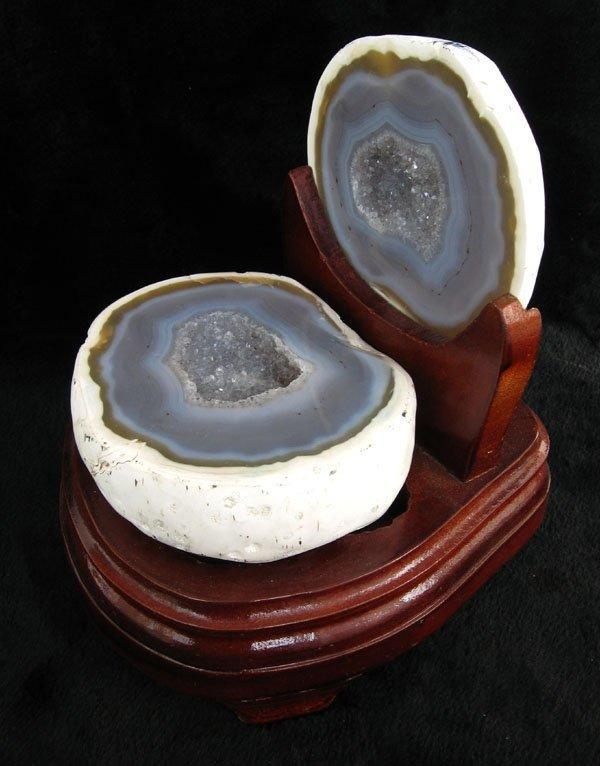 白水晶聚寶盆擺件1.77千克瑪瑙聚寶盆錢袋子