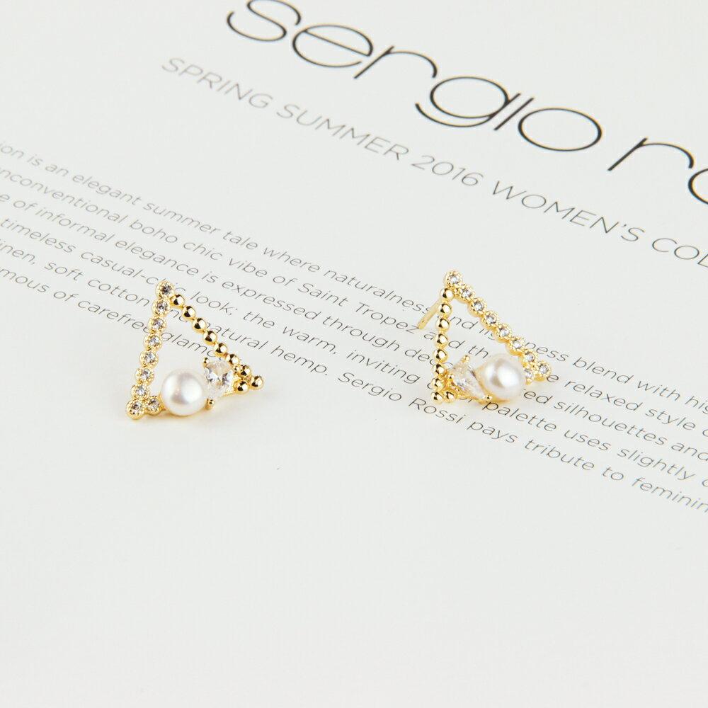 【LOCA】韓國-珍珠優雅耳環 /925銀針