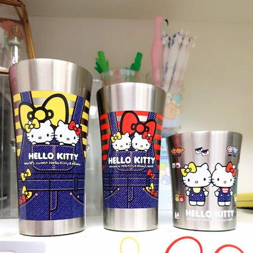skater日本kitty不鏽鋼杯真空300ML雙胞胎紅吊帶褲400315