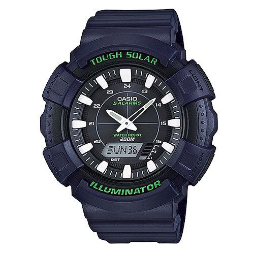 CASIO G-SHOCK AD-S800WH-2A經典雙顯腕錶/黑面51mm