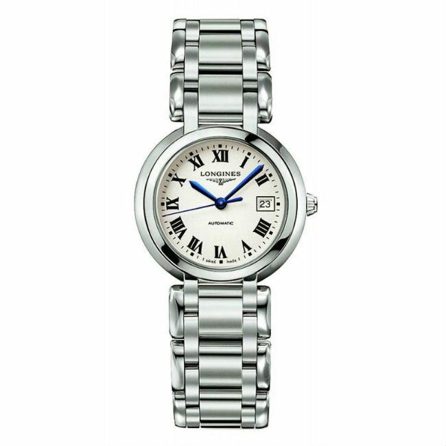 LONGINES 浪琴表 L81134716優雅羅馬新月機械腕錶/白面30mm