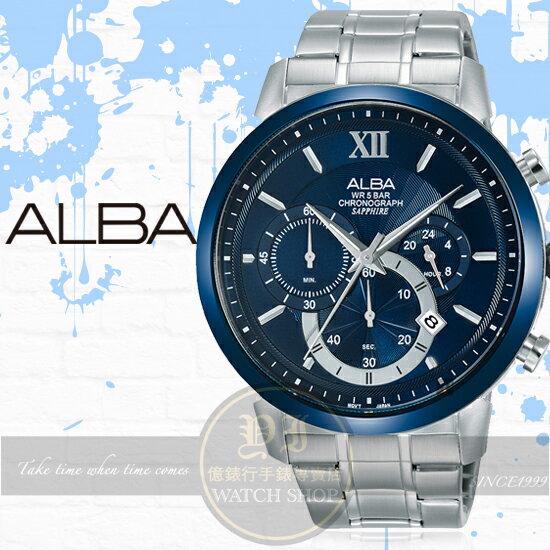 ALBA雅柏Prestige系列東京街頭計時潮流腕錶VD53-X295BAT3D27X1公司貨