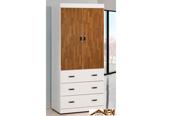 亞倫傢俱*卡恩白色3*7尺衣櫥