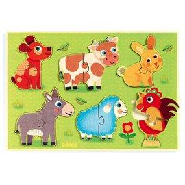 DJECO 智荷 可愛動物木拼圖『121婦嬰用品館』