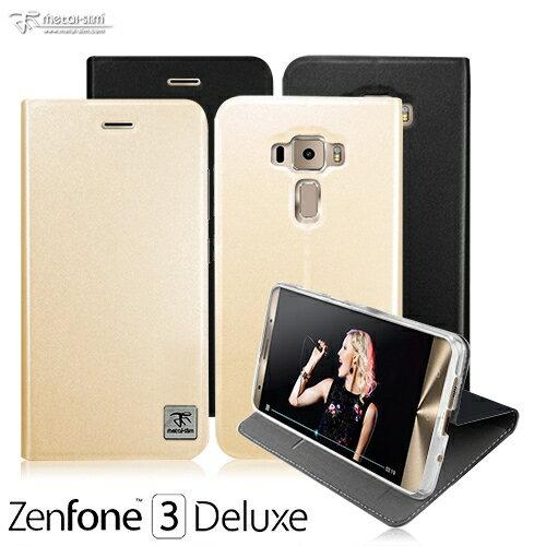 【愛瘋潮】Metal-Slim ASUS Zenfone3 Deluxe ZS570KL 原廠皮料站立TPU皮套 手機殼