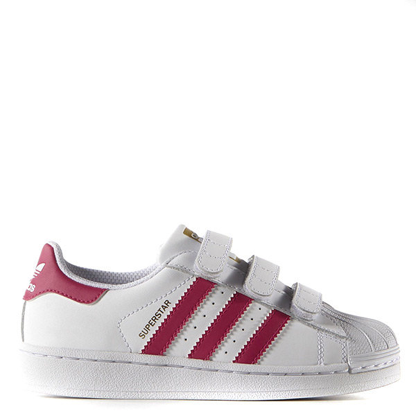【EST S】Adidas Superstar Foundation B23665 魔鬼氈 中童鞋 白桃紅 H0317