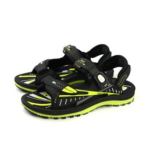 GP(Gold.Pigon)阿亮代言涼鞋防水雨天黑黃男鞋G8663-60no846