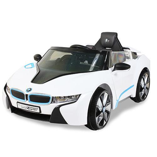 【兒童電動車】BMW I8 雙驅動電動車高端版-白色 W480QHG-A02 (可遙控)
