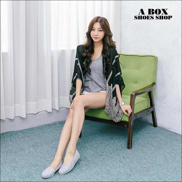 【AW530】*限時免運* MIT台灣製 混色毛呢皮革 豆豆鞋 圓頭包鞋 娃娃鞋 3色 2