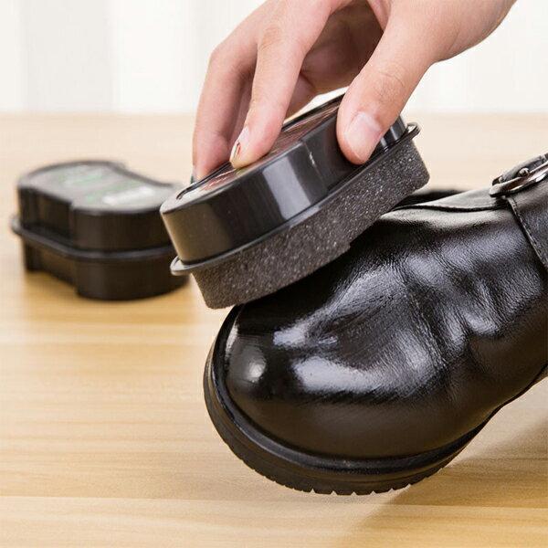 BO雜貨【SV9618】多功能雙面擦皮鞋海綿無色蠟刷子鞋護理刷黑皮鞋皮鞋皮帶皮包雙面海綿擦鞋工具
